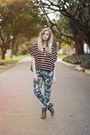 Floral-beginning-boutique-pants-striped-romwe-top