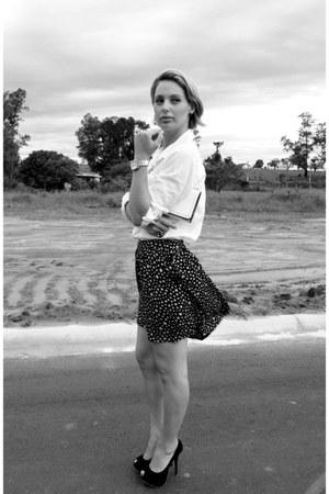 skirt - shirt - saia bag - pumps