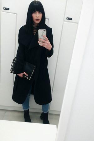 black Primark bag - black bag