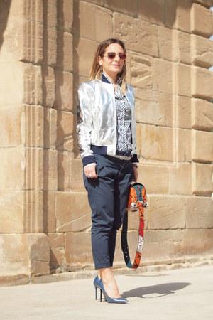 Zara jacket - Bershka shirt - Parfois bag - Knockaround sunglasses