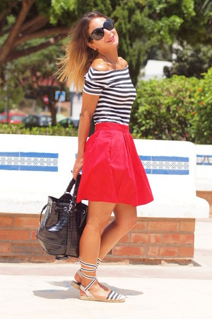 suiteblanco top - Stradivarius shoes - suiteblanco skirt