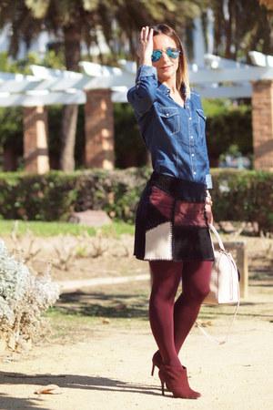Stradivarius t-shirt - Zara skirt