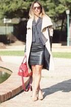 Zara coat - Zara bag - Bershka skirt