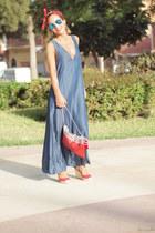 pull&bear bag - Zara dress - Ray Ban sunglasses - Marypaz sandals