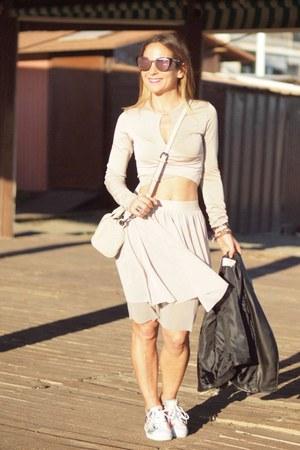 Zara bag - Adidas sneakers - Zara skirt