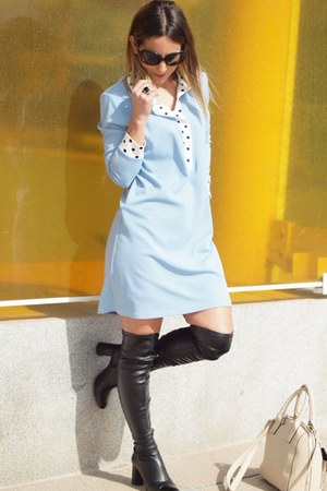 Zara boots - Modas Ana dress - Roberto Martin sunglasses