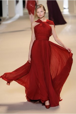 red Elie Saab dress