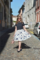 sky blue floral dresslily skirt - light pink Rosegal bag