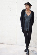 Urban Outfitters romper - Luxury Rebel boots - Forever 21 cardigan