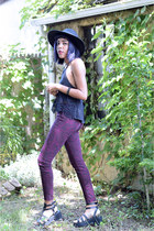 asos hat - Urban Outfitters top - H&M pants - Deena & Ozzy sandals