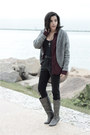 Go-jane-boots-forever-21-cardigan-asos-pants