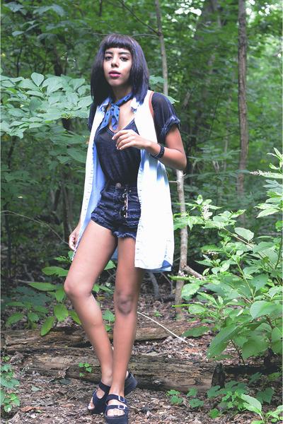H&M dress - madewell scarf - Ladakh shorts - Jeffrey Campbell sandals
