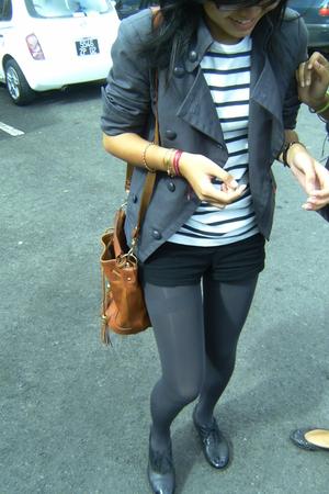 jean paul gauthier t-shirt - H&M shorts - socks tights - Esprit blazer - vintage