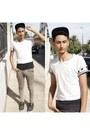 Zara-jeans-jeans-hm-cap-hat-t-shirt-coq-sportif-sneakers