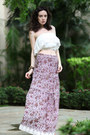 White-forever-21-top-maroon-let-them-stare-skirt