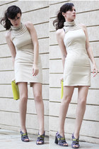 beige wwwletthemstarecom dress - yellow Zara heels