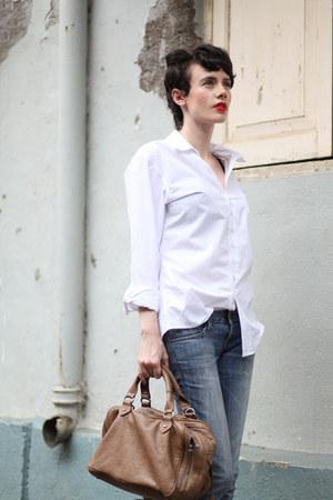 Let them stare shirt - Mango jeans