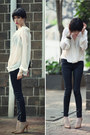 Black-mango-jeans-ivory-let-them-stare-blouse-neutral-zara-heels