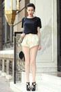 Zara-shirt-wwwletthemstarecom-shorts-zara-sandals