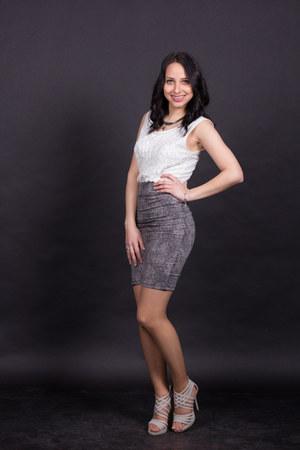 gray skirt - off white accessories shirt - heather gray heels