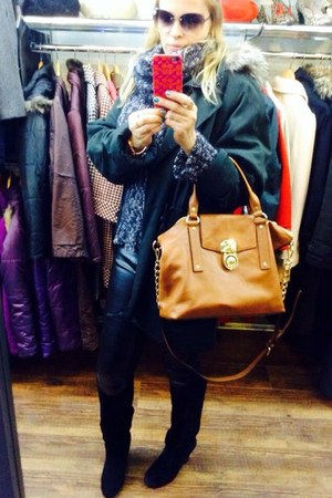 Michael Kors bag - naughty monkey boots - Oliver B jacket - leggings