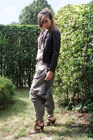 brown sandwich pants - brown H&M jacket - brown ASH shoes - brown Nature accesso