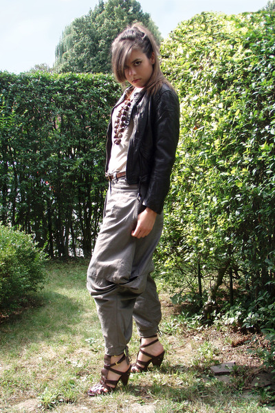 brown sandwich pants - brown H&M jacket - brown ASH shoes - brown Nature accesso