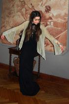 black new look dress - light brown blouse