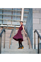 midi dress Ksenia Schnaider dress - wedges Messeca boots