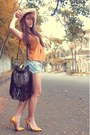 Pump-christian-louboutin-shoes-vintage-studded-bag-zara-belt-mustard-pink-