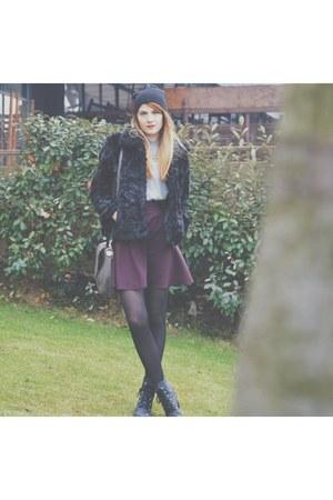 black new look coat