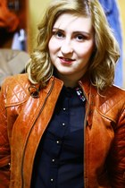 tawny leather vintage jacket