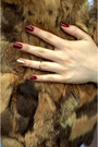 Tawny-faux-leather-hm-bag-fur-vest-vintage-vest