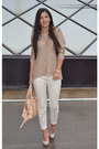 Camel-zara-blouse-neutral-zara-pants-peach-bershka-heels