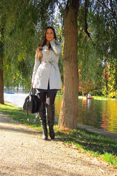 silver Orsay jacket - black H&M bag