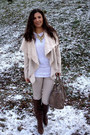 Brown-pieces-bag-dark-brown-stradivarius-boots-tan-bershka-coat