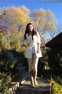 White-orsay-coat-tan-bershka-pants-white-stradivarius-blouse-h-m-bracelet