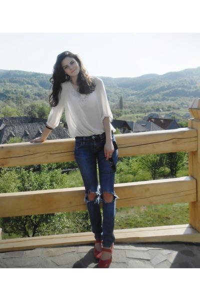 Big star jeans - MNG bag - H&M sunglasses - m&co blouse