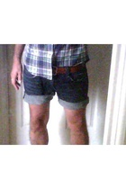 J Crew shirt - Levis jeans - vintage belt