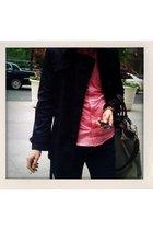 American Apparel shirt - H&M coat - Cockpit purse - Levis jeans