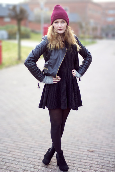 Zara jacket - American Apparel hat - Deichmann heels