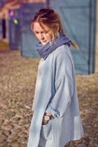 ivory H&M jeans - light blue Dansk jacket - navy Daniel Wellington watch