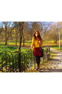 Black-deichmann-boots-mustard-orsay-sweater-brick-red-new-look-skirt