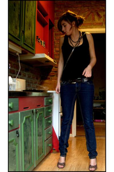 Vila top - GINA TRICOT purse - River Island shoes - H&M necklace