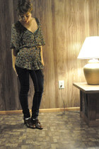 Susan Lawrence shirt - Joan and David Couture shoes - belt - jeans - necklace