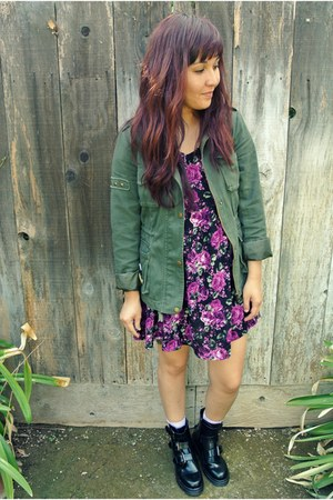 Forever 21 jacket - Forever 21 boots - American Apparel dress