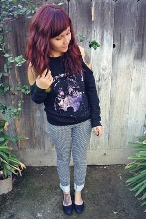 Target pants - Urban Outfitters sweatshirt - Ebay flats