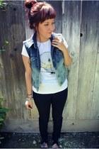 DIY vest - H&M t-shirt - Urban Outfitters pants