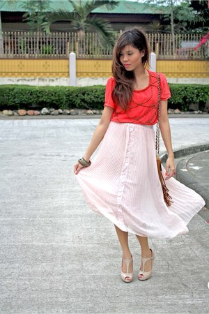AeanKli Clothing Line skirt - AeanKli Clothing Line top - Parisian pumps