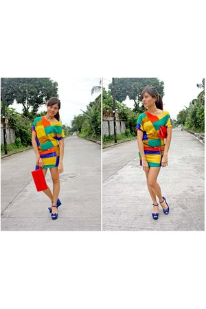 color blocking AeanKli dress